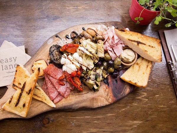 photograph of antipasto platter in Easy Lane