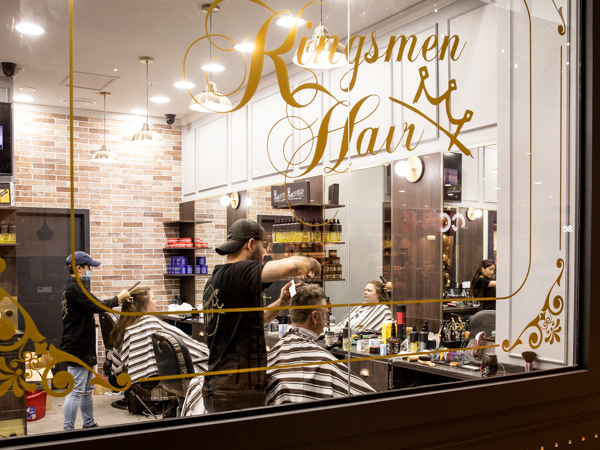 photo of Kingsmen Hair barber window in Maitland