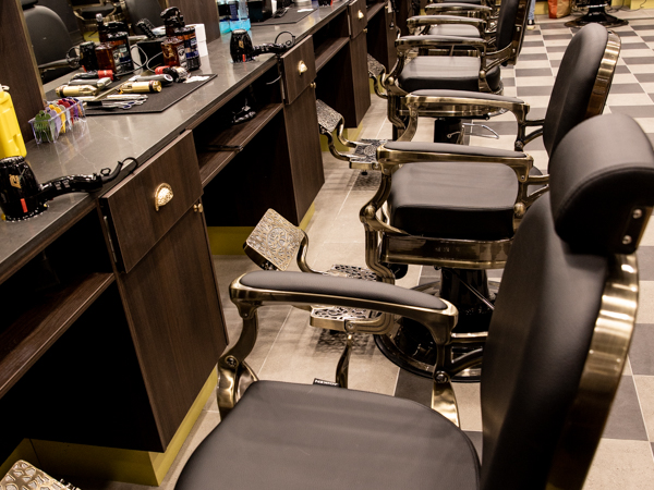 photo of Kingsmen Hair barbers chairs in Maitland