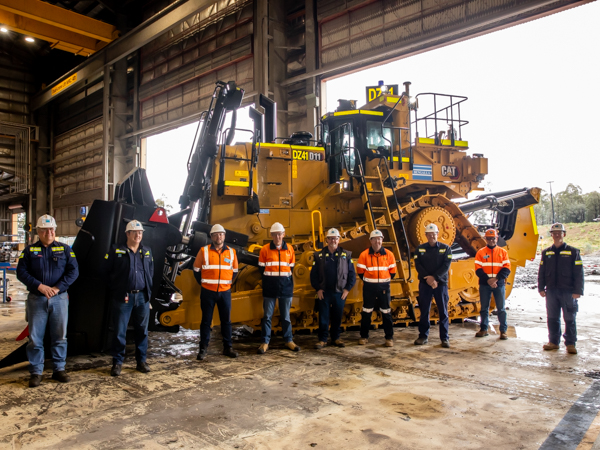 WesTrac D11 dozer and team at Bengalla Mine